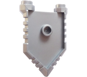 LEGO Flat Silver Minifigure Shield with Handle and Two Studs (22408)