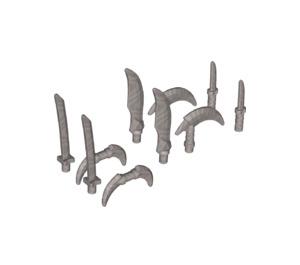 LEGO Flat Silver Swords (10) (37341)
