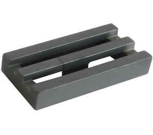 LEGO Flat Silver Tile 1 x 2 Grille (with Bottom Groove) (2412)