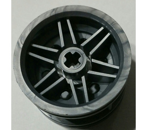 LEGO Flat Silver Wheel Rim Ø30 x 20 with No Pinholes, with Reinforced Rim