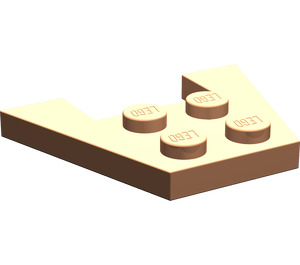 LEGO Flesh Wedge Plate 3 x 4 without Stud Notches