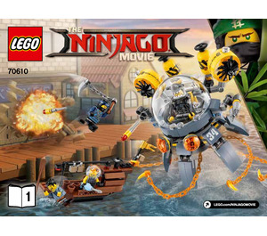 LEGO Flying Jelly Sub Set 70610 Instructions