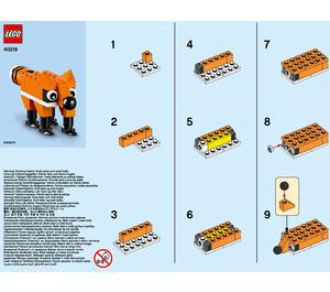 LEGO Fox Set 40218 Instructions