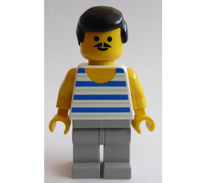 LEGO Freestyle Figure with Striped Top Minifigure