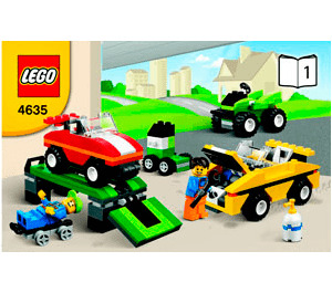 LEGO Fun With Vehicles Set 4635 Instructions