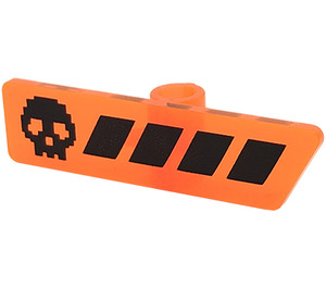 LEGO Gameplayer Label with Black Skull and Stripes Pattern