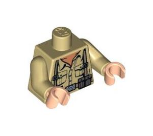 LEGO German Soldier Torso with Desert Fatigues (76382)