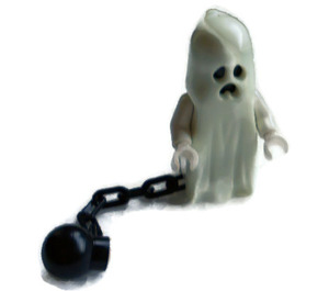 LEGO Ghost with 1x2 brick instead of legs and ball and chain Minifigure