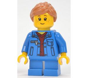 LEGO Girl, Denim Jacket, Blue Short Legs Minifigure