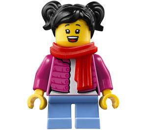 LEGO Girl in Dark Pink Jacket Minifigure