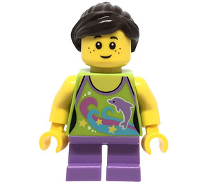 LEGO Girl with Dolphin Shirt Minifigure
