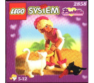 LEGO Girl with Two Cats Set 2858