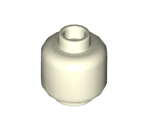 LEGO Glow in the Dark Solid White Plain Head (Recessed Solid Stud) (3626 / 30011)