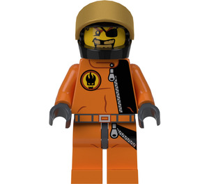 LEGO Gold Tooth with Helmet Minifigure