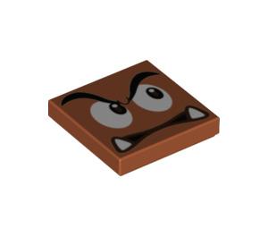 LEGO Goomba Tile 2 x 2 with Groove (3068 / 68917)