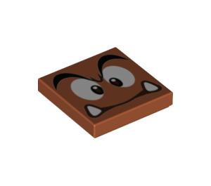 LEGO Goomba Tile 2 x 2 with Groove (3068 / 68938)