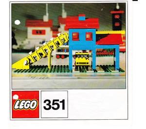 LEGO Gravel Depot Set 351 Instructions