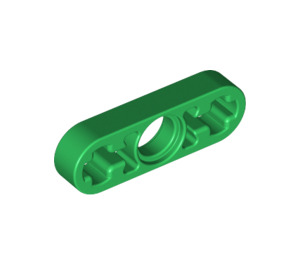 LEGO Green Beam 3 x 0.5 with Axle Holes (6632)