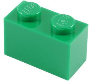LEGO Green Brick 1 x 2 (3004)