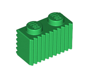 LEGO Green Brick 1 x 2 with Grille (2877)