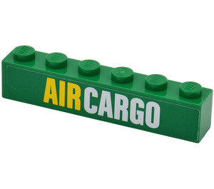 LEGO Green Brick 1 x 6 with 'AIR CARGO' Sticker from Set 60021