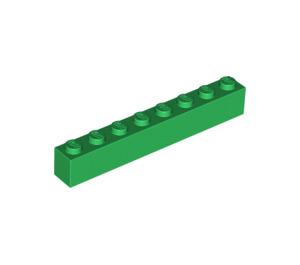 LEGO Green Brick 1 x 8 (3008)