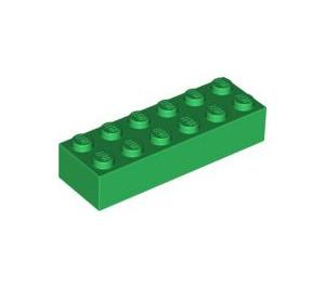 LEGO Green Brick 2 x 6 (2456 / 44237)