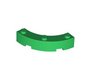 LEGO Green Brick Corner 4 x 4 (Wide with 3 Studs) (48092)