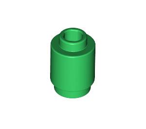 LEGO Green Brick Round 1 x 1 with Open Stud (3062)