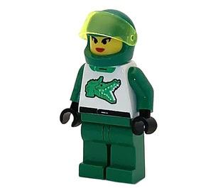LEGO Green Buggy Female Racer Minifigure
