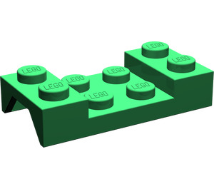LEGO Green Car Mudguard 2 x 4 without Hole (3788)