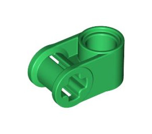 LEGO Green Cross Block 90° 1 x 2 (Axle/Pin) (6536)