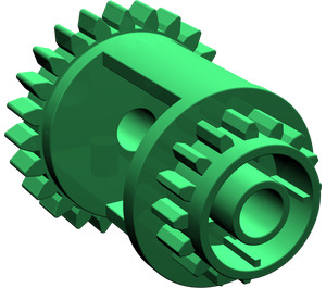 LEGO Green Differential Gear Casing