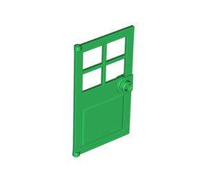 LEGO Green Door 1 x 4 x 6 with 4 Panes and Stud Handle (60623)
