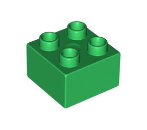 LEGO Green Duplo Brick 2 x 2 (3437 / 89461)