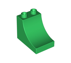 LEGO Green Duplo Brick 2 x 3 x 2 with Curved Ramp (2301)