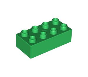 LEGO Green Duplo Brick 2 x 4 (3011)