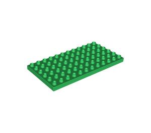LEGO Green Duplo Plate 6 x 12 (4196)