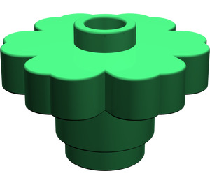 LEGO Green Flower 2 x 2 with Open Stud (4728)