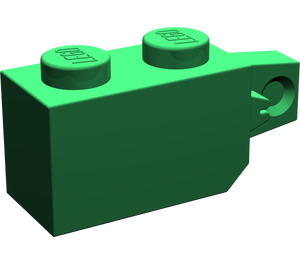 LEGO Green Hinge Brick 1 x 2 Locking with Single Finger (Vertical) On End