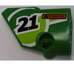 """LEGO Green Left Panel 1 with """"21"""" and """"KYOTO"""" Sticker"""