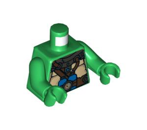 LEGO Green Leonardo Scuba Gear Minifig Torso (76382)