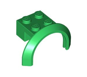 LEGO Green Mudguard with Round Arch 4 x 2 1/2 x 2 (50745)