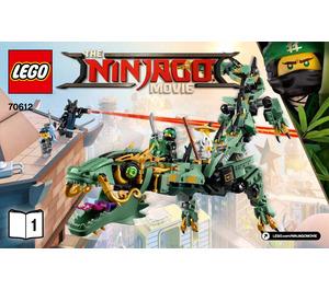 LEGO Green Ninja Mech Dragon Set 70612 Instructions