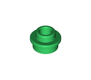 LEGO Green Plate 1 x 1 Round with Open Stud (28626)
