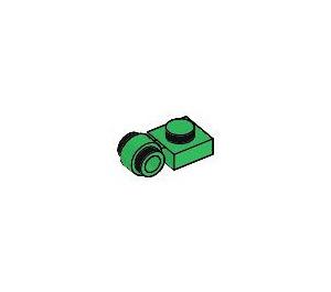 LEGO vert assiette 1 x 1 avec Agrafe (Anneau épais) (4081)