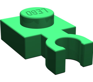 LEGO Green Plate 1 x 1 with Vertical Clip (Thin 'U' Clip) (4085)