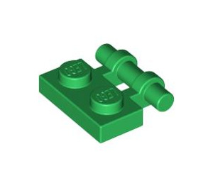LEGO Green Plate 1 x 2 with Handle (Open Ends) (2540)