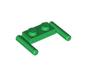 LEGO Green Plate 1 x 2 with Handles (Low Handles) (3839)