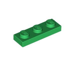 LEGO Green Plate 1 x 3 (3623)